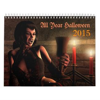 All Year Halloween 2015 Calendar