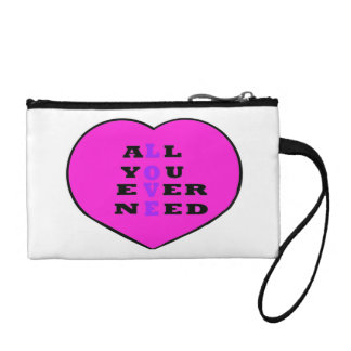 All You Ever Need Love, in a heart, Coin Purse