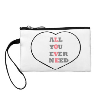 All You Ever Need Love, in a heart, Coin Wallet