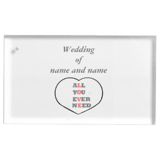 All You Ever Need Love wedding table place holder Table Number Holder