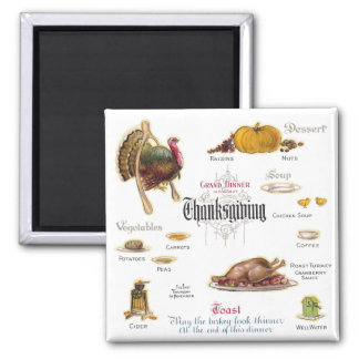 All You Need For a Thanksgiving Feast Fridge Magnet