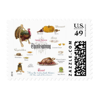 All You Need For a Thanksgiving Feast Postage