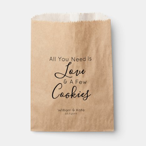 All You Need is A Cookie Wedding Favor Bag