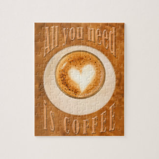 All you need is coffee jigsaw puzzle