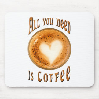 All you need is coffee mouse pad