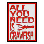 All You Need Is Crawfish Sign Print