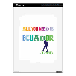 All You need Is Ecuador_Travel Decal For iPad 3