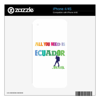 All You need Is Ecuador_Travel Decal For The iPhone 4S