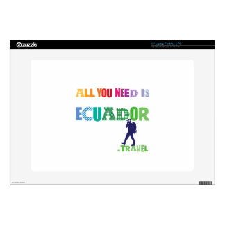 """All You need Is Ecuador_Travel Decals For 15"""" Laptops"""