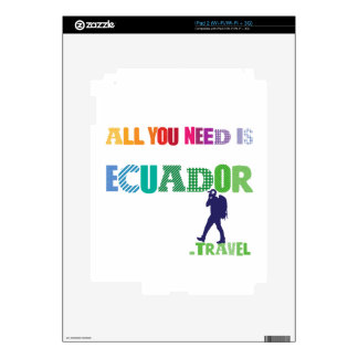 All You need Is Ecuador_Travel Decals For The iPad 2