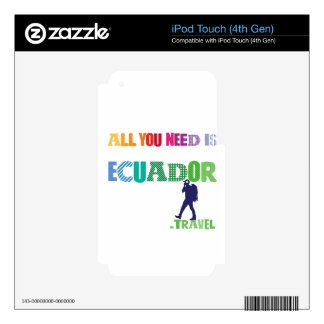 All You need Is Ecuador_Travel iPod Touch 4G Decals