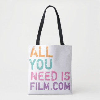 ALL YOU NEED IS FILM .COM COLORS TOTE BAG