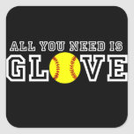 All you Need is Glove! Square Sticker