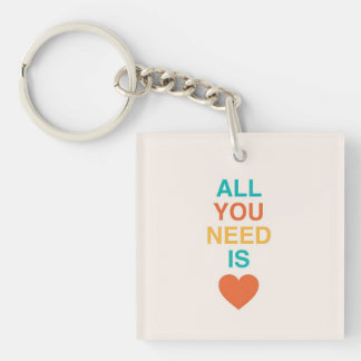 """""""All You Need Is Heart"""" Inspirational Keychain"""