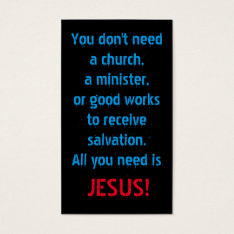 All You Need Is Jesus Business Card at Zazzle