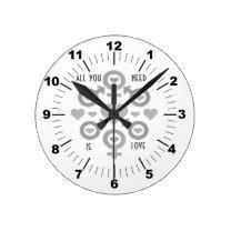 All you need is love Acrylic Wall Clock