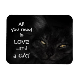All you need is love...and a cat / Black cat Magnet
