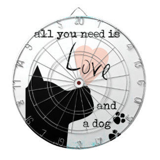 all you need is love and a dog pink blue pit bull dart boards