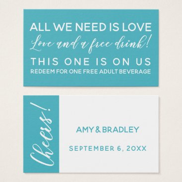 All You Need is Love And a Free Drink Ticket, Aqua Business Card