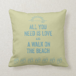 All You Need Is Love and A Walk Throw Pillow