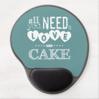 All You Need is Love and Cake Gel Mouse Pad