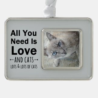 All You Need is Love ... and cats.  Lots of Cats. Ornament