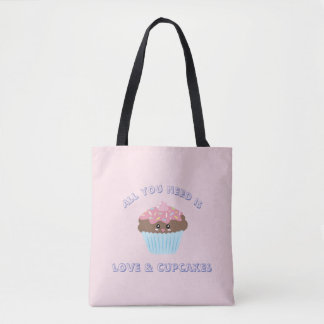 All You Need Is Love And Cupcakes Pastel Colors Tote Bag