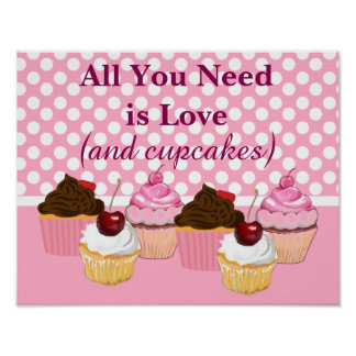 Cupcake Posters | Zazzle