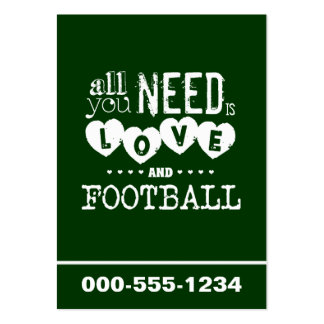 All You Need is Love and Football Large Business Cards (Pack Of 100)