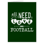 All You Need is Love and Football Greeting Cards