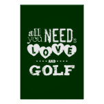 All You Need is Love and Golf Poster