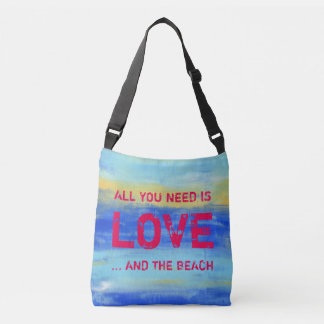 All you need is Love and the Beach - Abstract Art Crossbody Bag