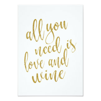 All you need is love and wine affordable sign card
