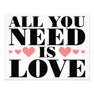 All You Need is Love Announcements