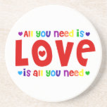 All you need is Love Beverage Coaster