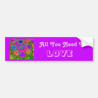 'All You Need Is Love' Bumper Sticker