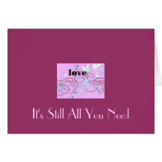 All You Need Is Love, Card