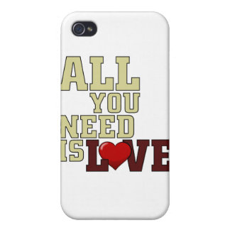 All You Need Is Love Cases For iPhone 4