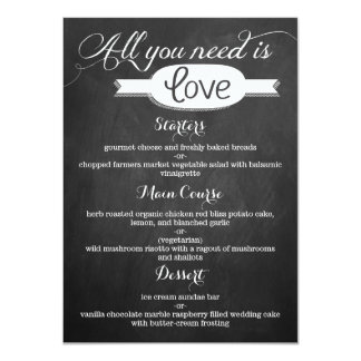 All You Need Is Love Chalkboard Wedding Collection 4.5x6.25 Paper Invitation Card