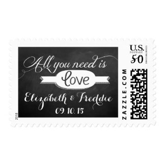 All You Need Is Love Chalkboard Wedding Collection Postage