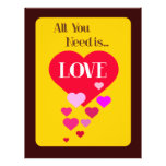 All You Need is Love Custom Flyer