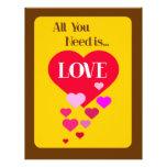 All You Need is Love Custom Letterhead