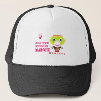 All You Need Is Love-Cute Monkey-Morocko Trucker Hat