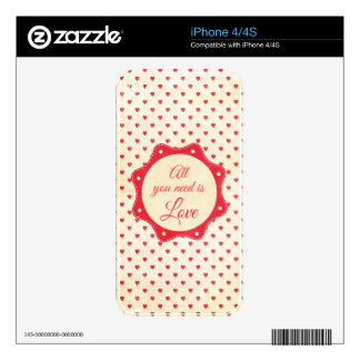 All you need is love decal for iPhone 4