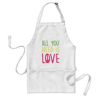 All You Need Is Love Fun Rasta Peace Sign Graphic Adult Apron