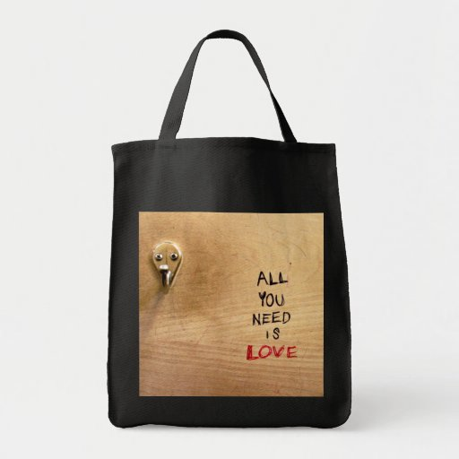 All You Need Is Love Grocery Tote Bag