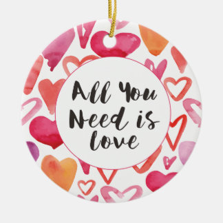 All You Need Is Love Heart Christmas Ornament