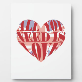 All You Need Is Love Heart Photo Plaque