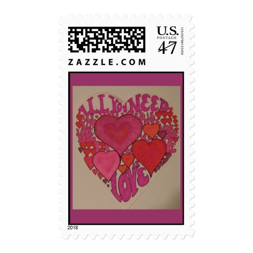 All You Need Is Love Heart Postage Stamp