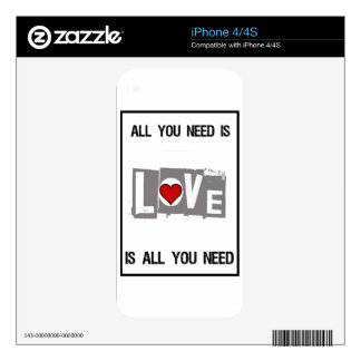 All You Need is Love Is all You Need iPhone 4S Decal